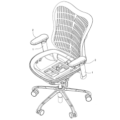 Office Chair Diagram How To Install Rail Molding On Stairs Reversing Assembly For Armrest Schematic And Image 02