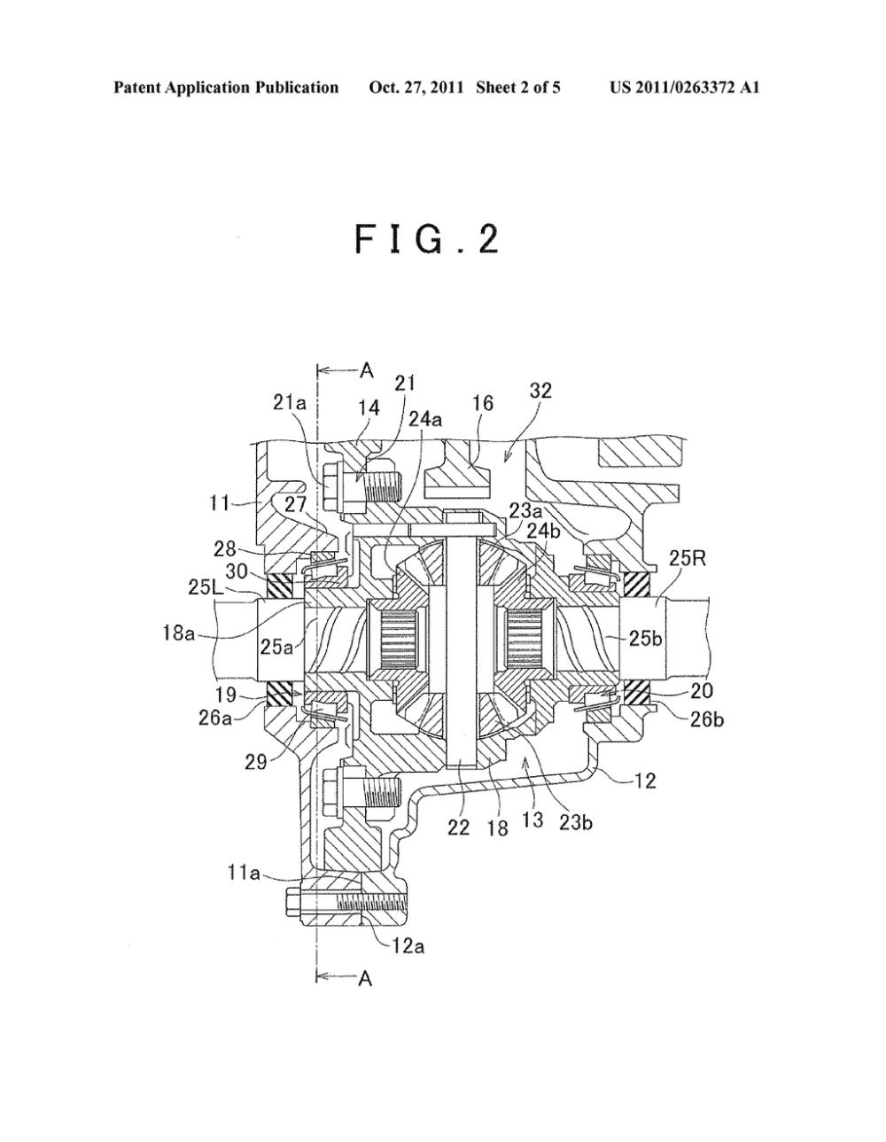 medium resolution of lubrication structure of differential gear unit diagram schematic differential gear schematic