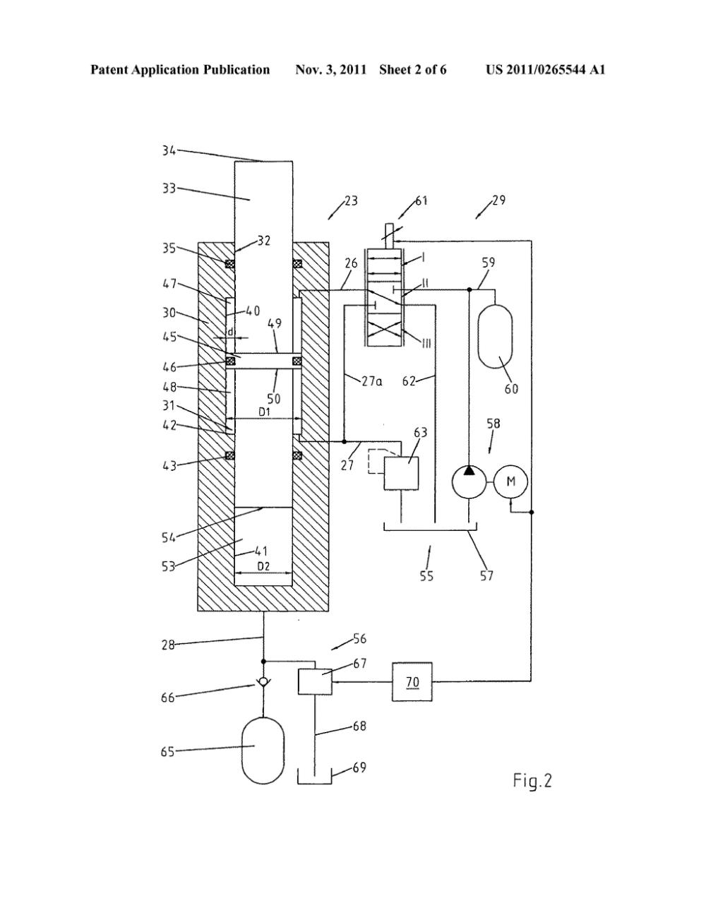 medium resolution of hydraulic cylinder for a hydraulic drawing cushion diagram schematic and image 03