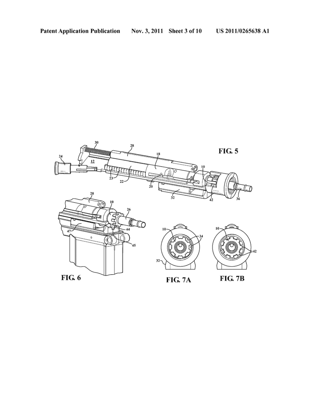 medium resolution of chamber insert lock installed within an ar 15 16 barrel extension for locating and reducing movement of an associated sub caliber action diagram