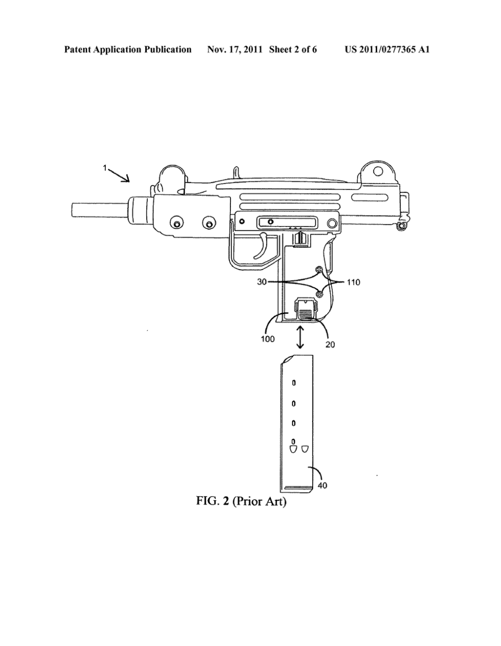 medium resolution of detachable magazine lock grip for uzi firearm diagram schematic and image 03