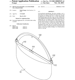 device to convert a clutch purse to a strap purse diagram schematic and image 01 [ 1024 x 1320 Pixel ]