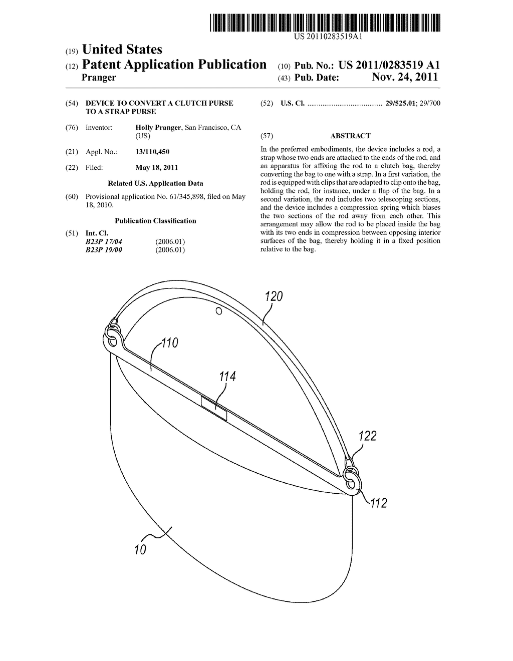 hight resolution of device to convert a clutch purse to a strap purse diagram schematic and image 01