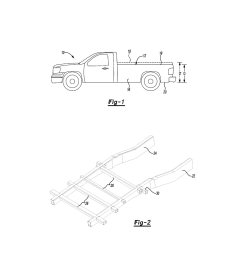 reduced height pickup truck bed support and method of manufacturing diagram schematic and image 02 [ 1024 x 1320 Pixel ]
