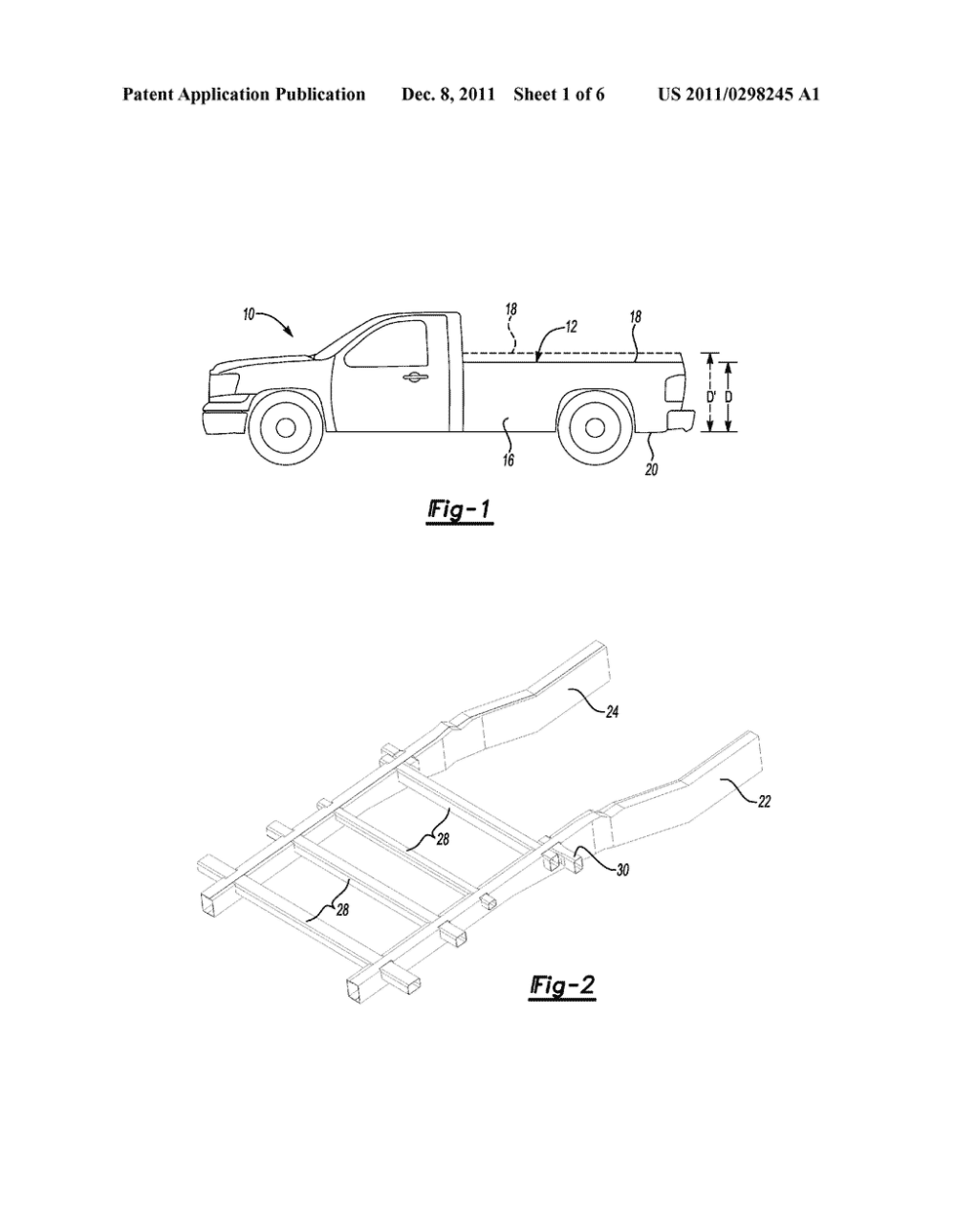 medium resolution of reduced height pickup truck bed support and method of manufacturing diagram schematic and image 02
