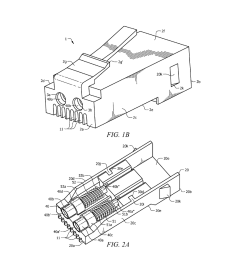 hybrid 8p8c rj 45 modular plug configured with both optical and electrical connections for providing both optical and electrical communications capabilities  [ 1024 x 1320 Pixel ]