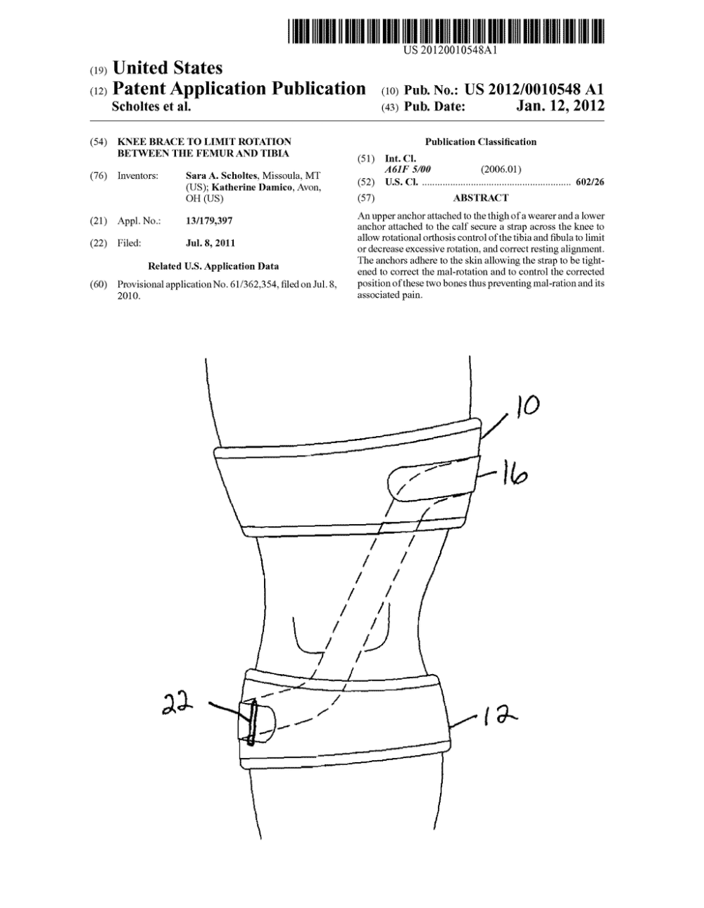 medium resolution of knee brace to limit rotation between the femur and tibia diagram schematic and image 01