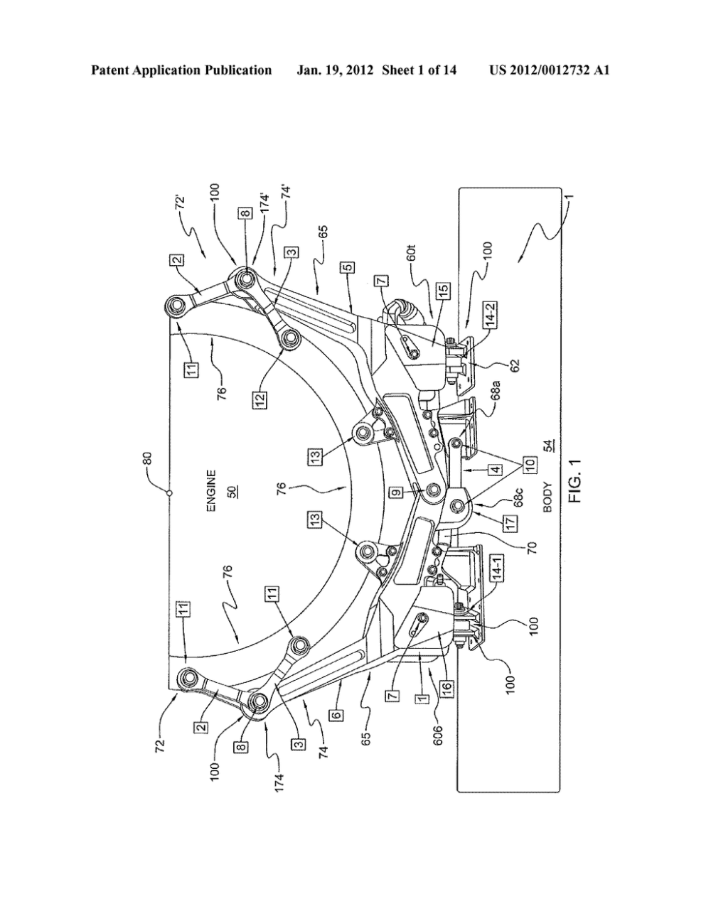 medium resolution of helicopter engine mounting system and methods diagram schematic and image 02