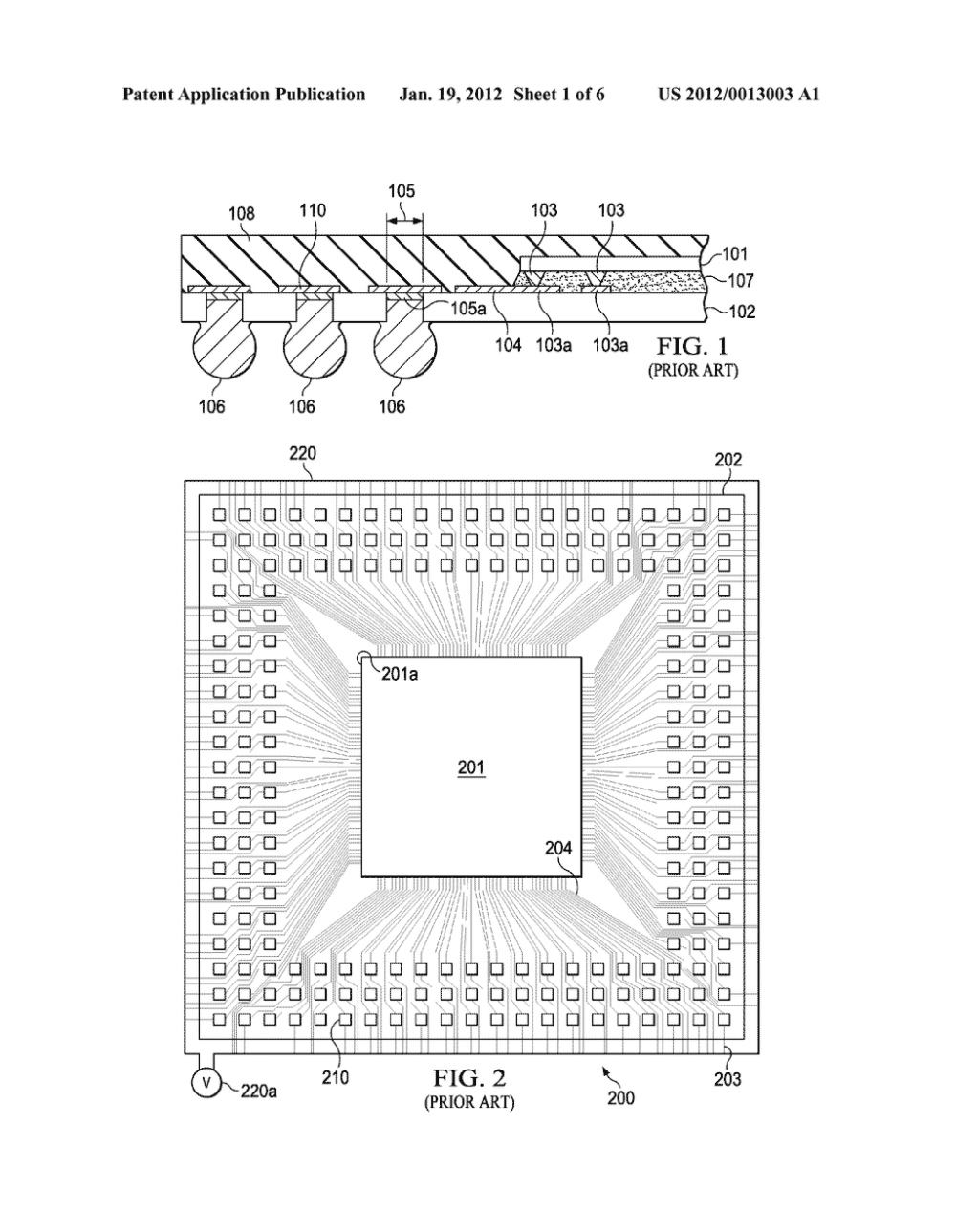medium resolution of bga package with traces for plating pads under the chip diagram schematic and image 02