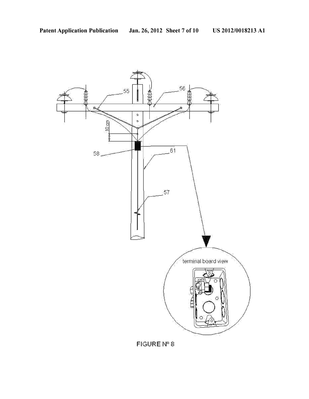 ELECTRIC ENERGY DISTRIBUTION POLE WITH INCORPORATED GROUND SYSTEM