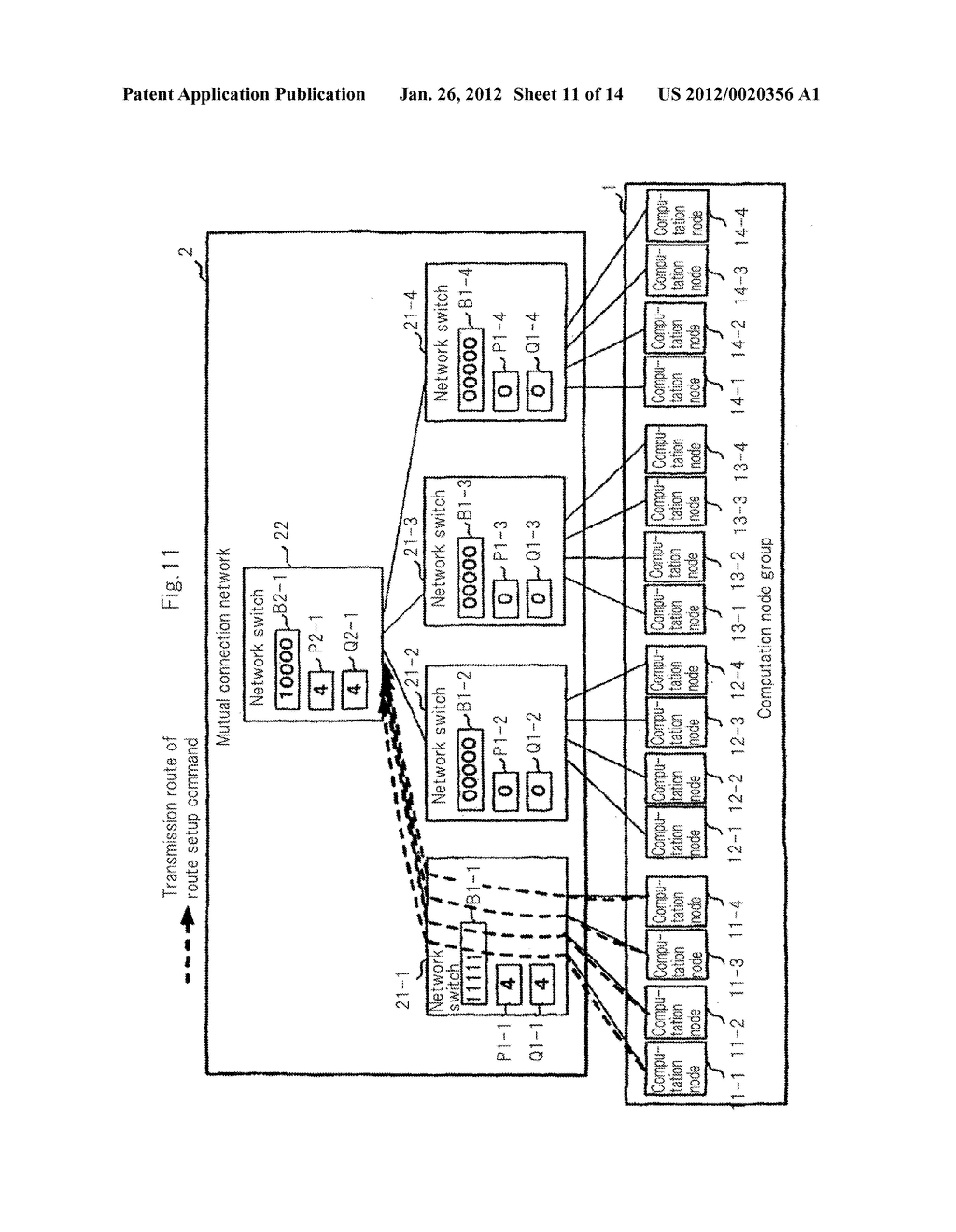 hight resolution of network switch route setup method program and parallel computer system diagram schematic and image 12