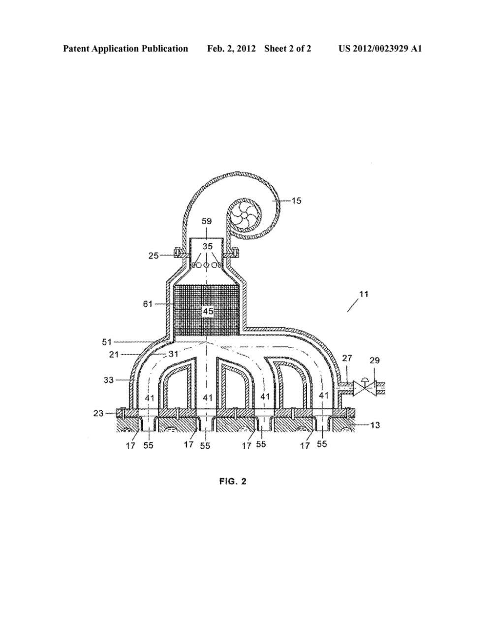 medium resolution of exhaust manifold of a turbo supercharged reciprocating engine diagram schematic and image 03
