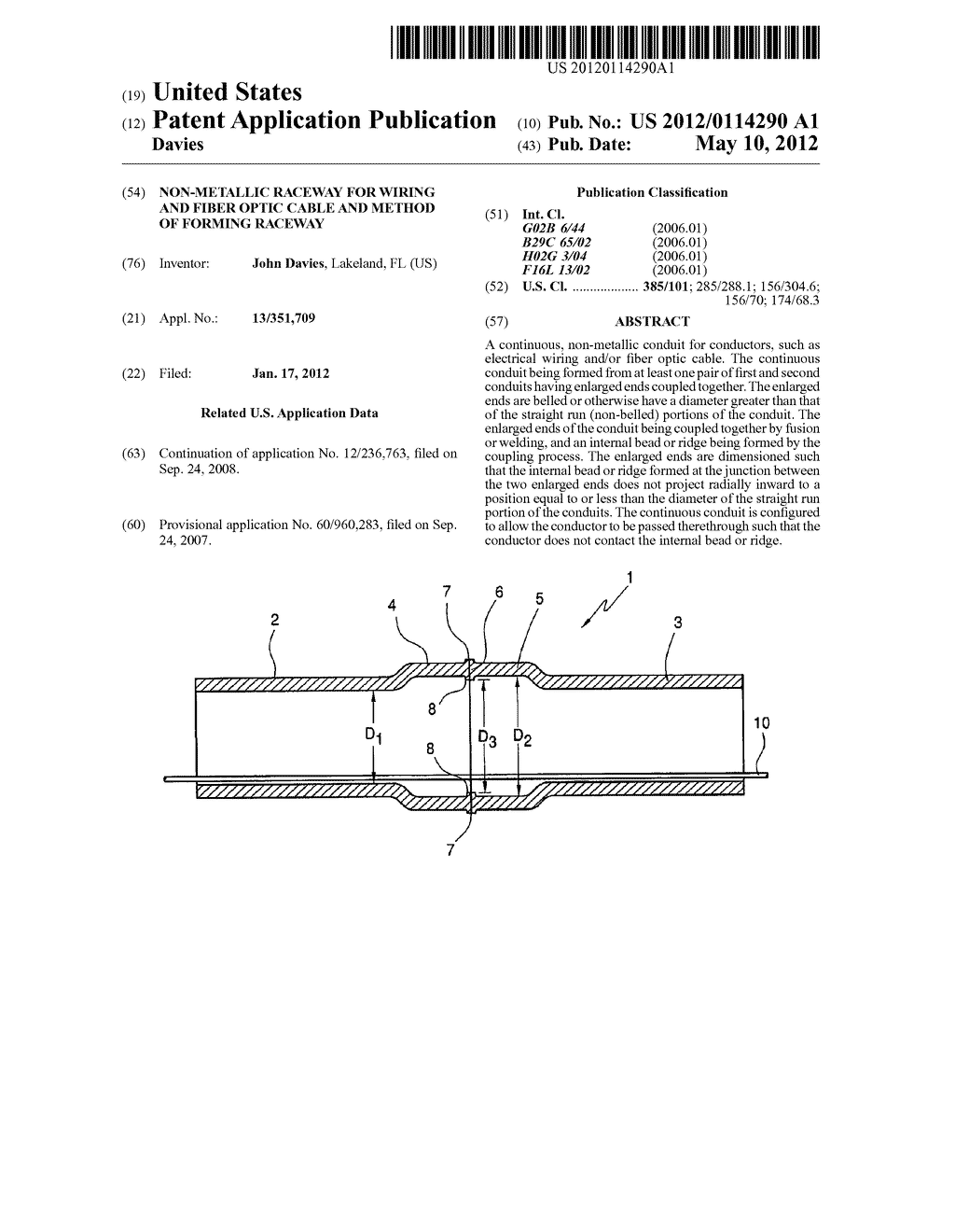 hight resolution of non metallic raceway for wiring and fiber optic cable and method of forming raceway diagram schematic and image 01