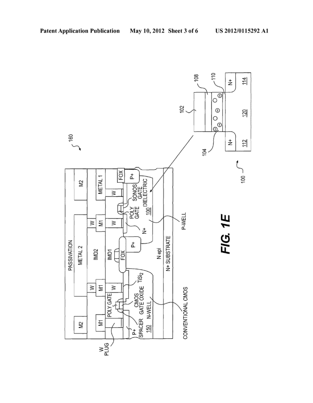 medium resolution of method for integrating sonos non volatile memory into a standard cmos foundry process flow diagram schematic and image 04