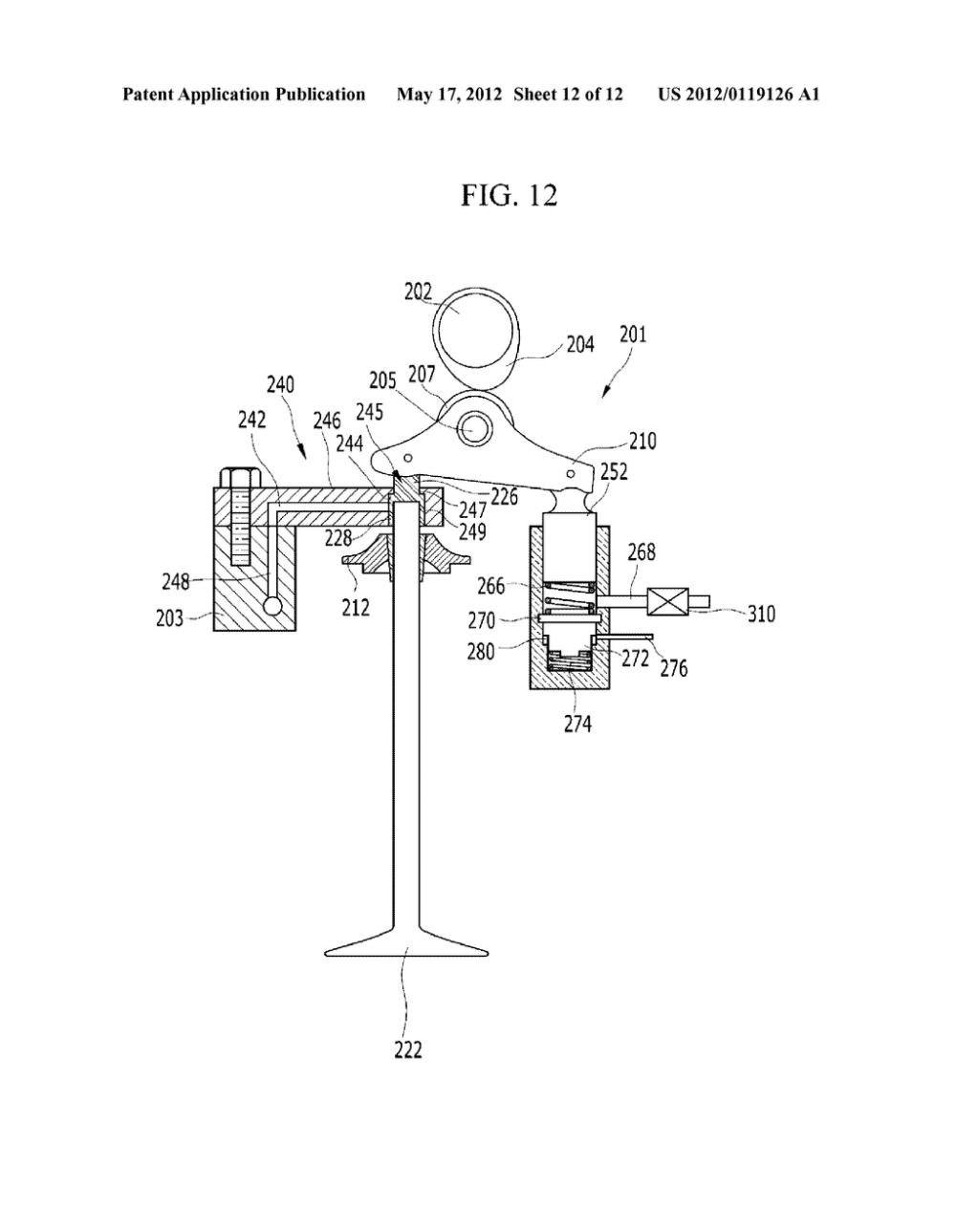 medium resolution of electro hydraulic valve train diagram schematic and image 13 rh patentsencyclopedia com overhead valve engine diagram
