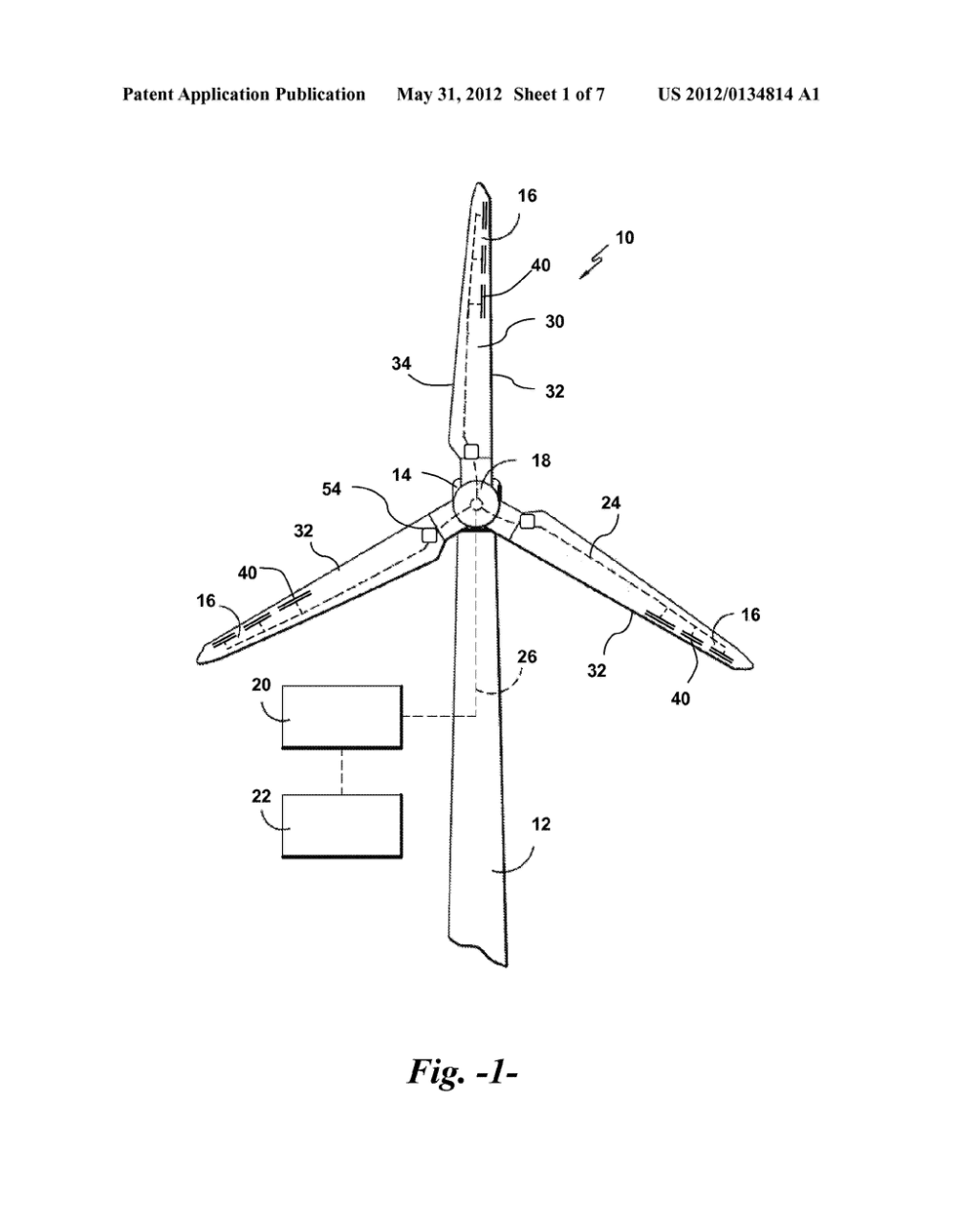 medium resolution of wind turbine rotor blade with fail safe air brake flaps diagram schematic and image 02