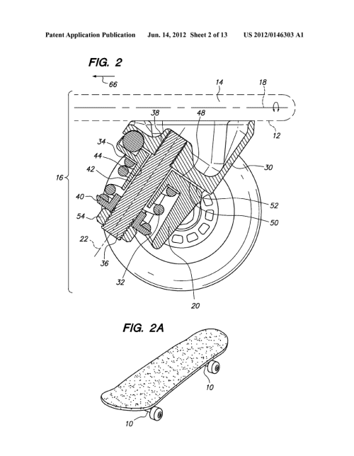 small resolution of three wheeled scooter with rear skate truck and fixed front wheel diagram schematic and image 03