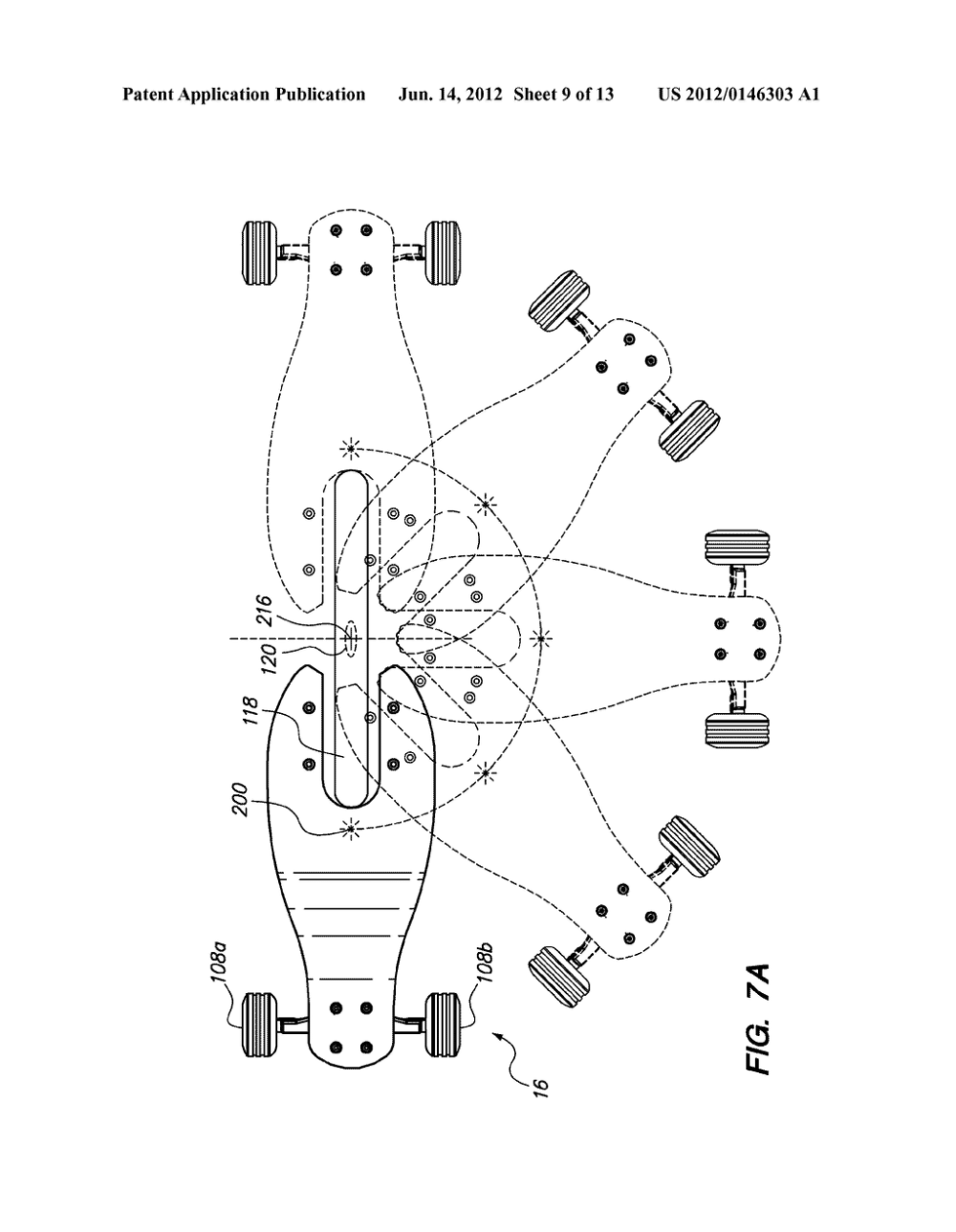 medium resolution of three wheeled scooter with rear skate truck and fixed front wheel diagram schematic and image 10
