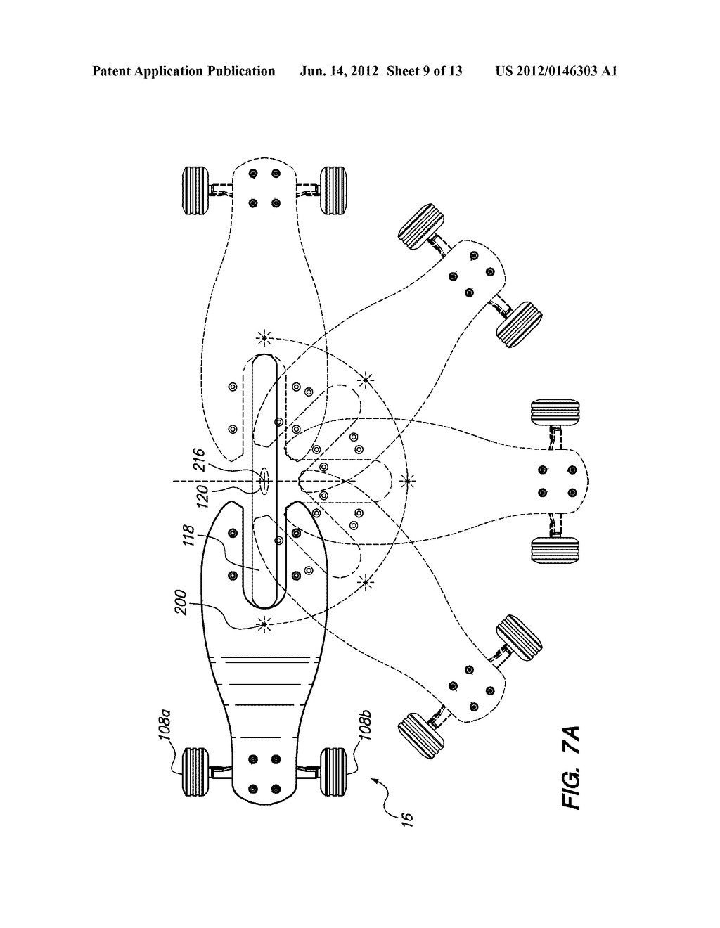 hight resolution of three wheeled scooter with rear skate truck and fixed front wheel diagram schematic and image 10