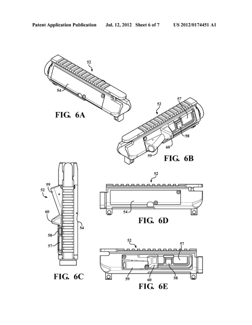 small resolution of modifiable upper receiver for m 16 ar15 type firearm in particular ar 15 lower receiver exploded view ar 15 upper diagram