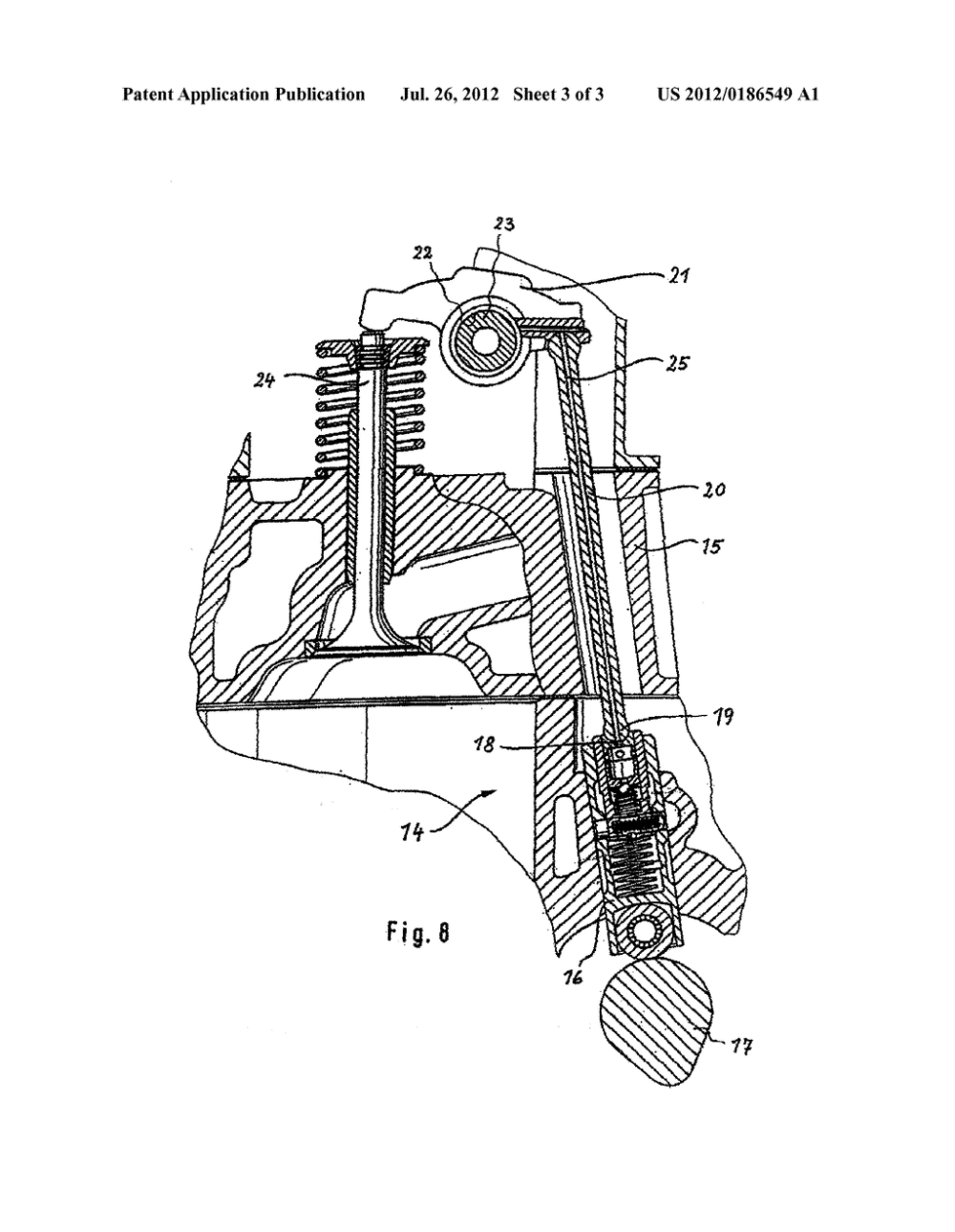 medium resolution of oscillating lever in a valve train of an internal combustion engine diagram schematic and image 04