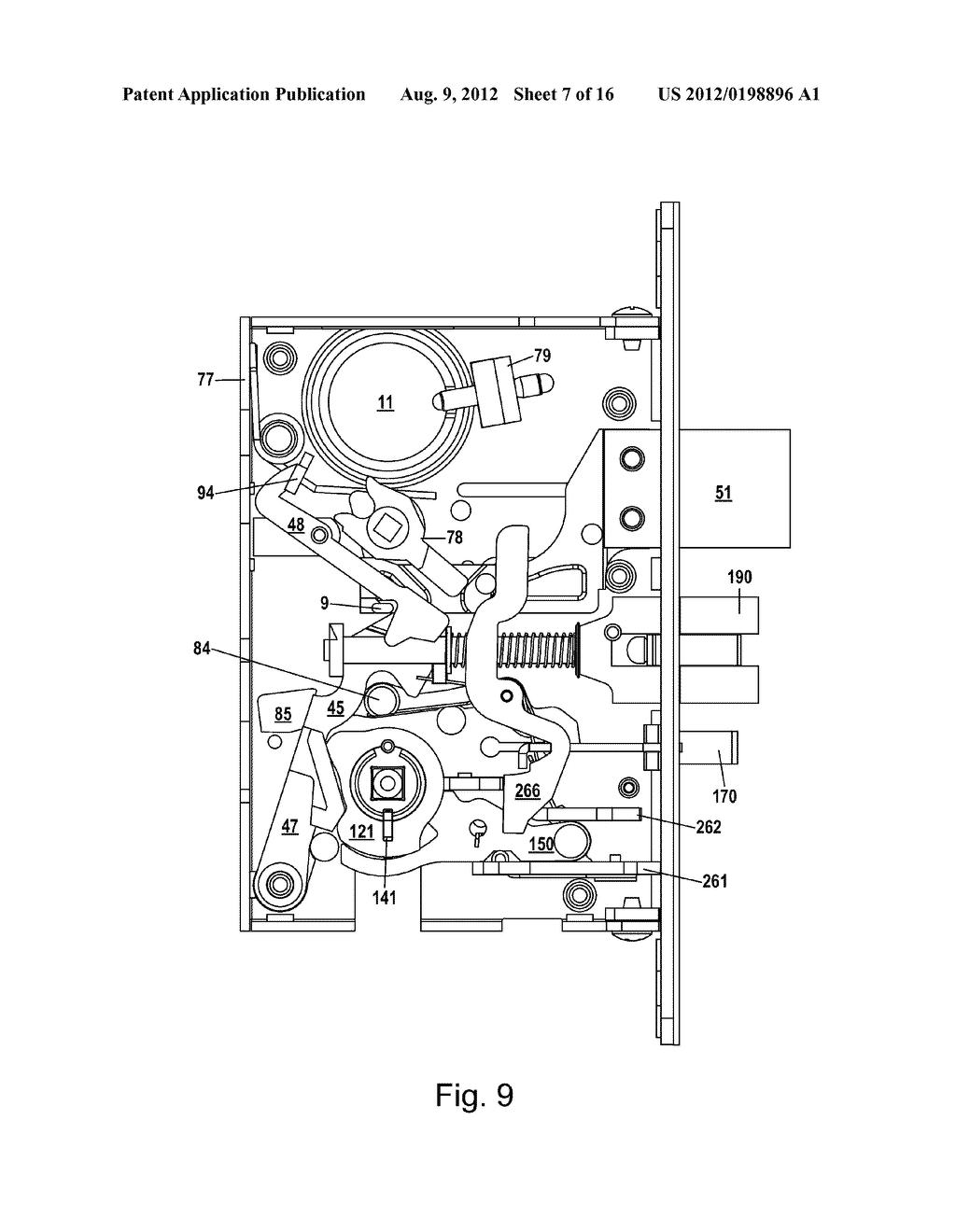 hight resolution of mortise lock diagram