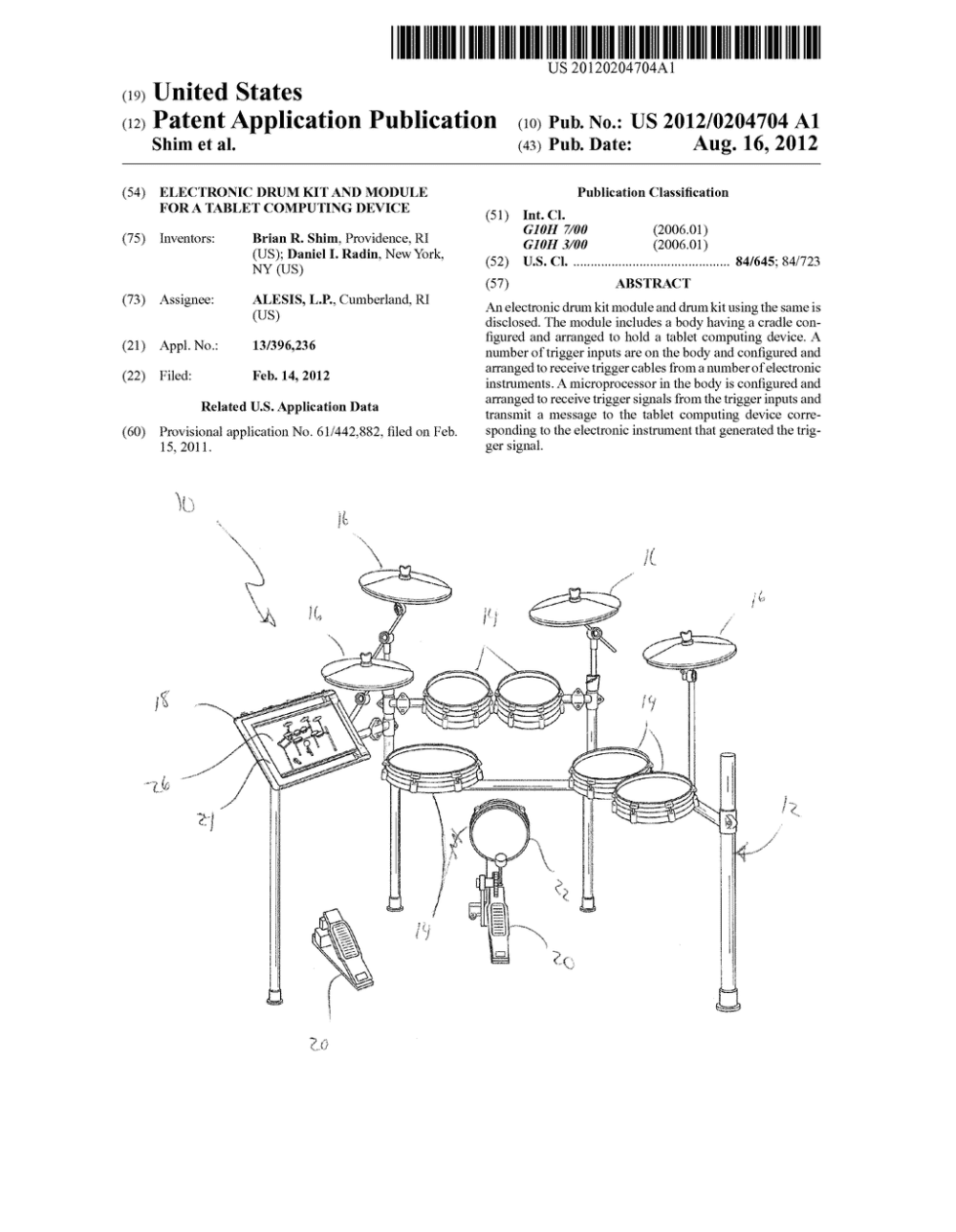 medium resolution of electronic drum kit and module for a tablet computing deviceelectronic drum kit and module for a