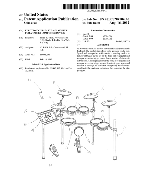 small resolution of electronic drum kit and module for a tablet computing deviceelectronic drum kit and module for a