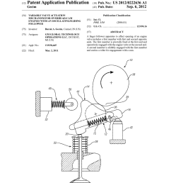 variable valve actuation mechanism for overhead cam engines with an oscillating sliding follower diagram schematic and image 01 [ 1024 x 1320 Pixel ]