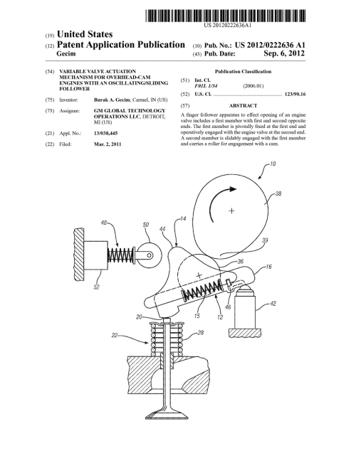 small resolution of variable valve actuation mechanism for overhead cam engines with an oscillating sliding follower diagram schematic and image 01