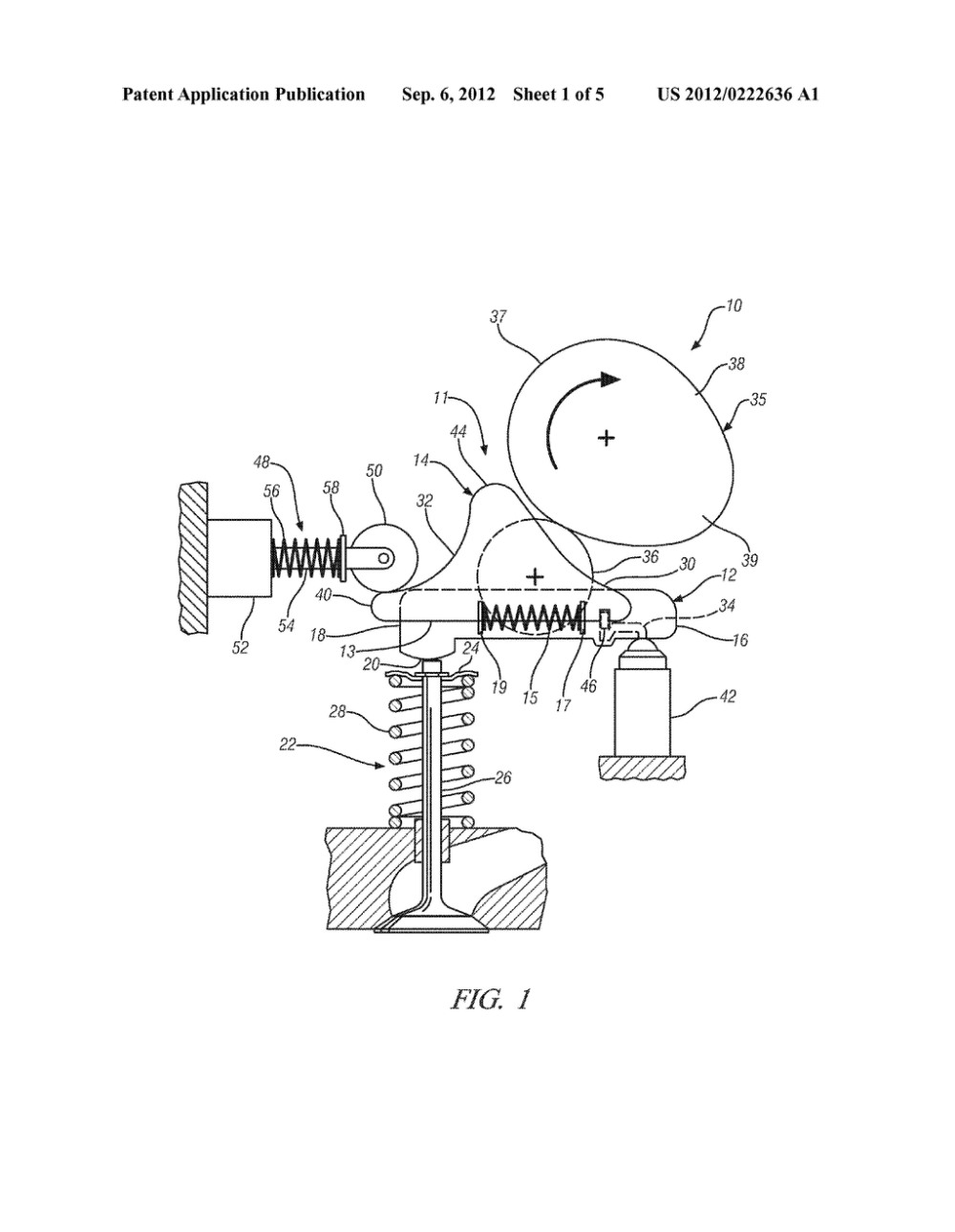 medium resolution of variable valve actuation mechanism for overhead cam engines with an oscillating sliding follower diagram schematic and image 02