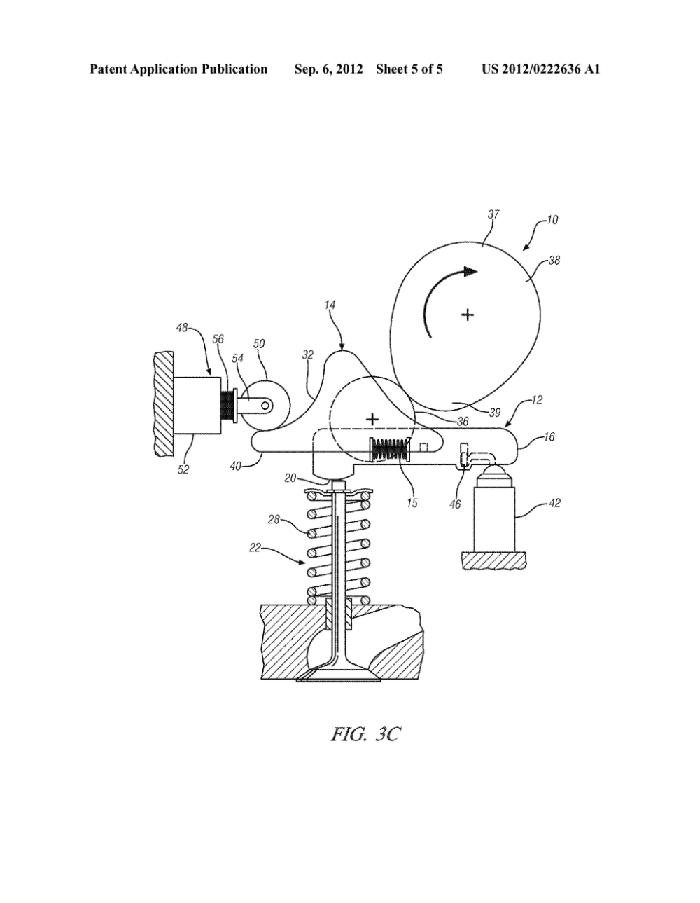 medium resolution of variable valve actuation mechanism for overhead cam engines with an oscillating sliding follower diagram schematic and image 06