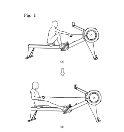 rowing machine exercise assisting device diagram schematic and image 02 [ 1024 x 1320 Pixel ]