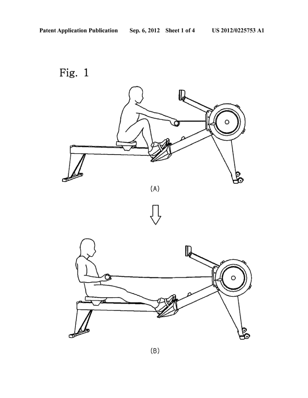 medium resolution of rowing machine exercise assisting device diagram schematic and image 02