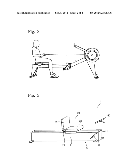 small resolution of rowing machine exercise assisting device diagram schematic and image 03