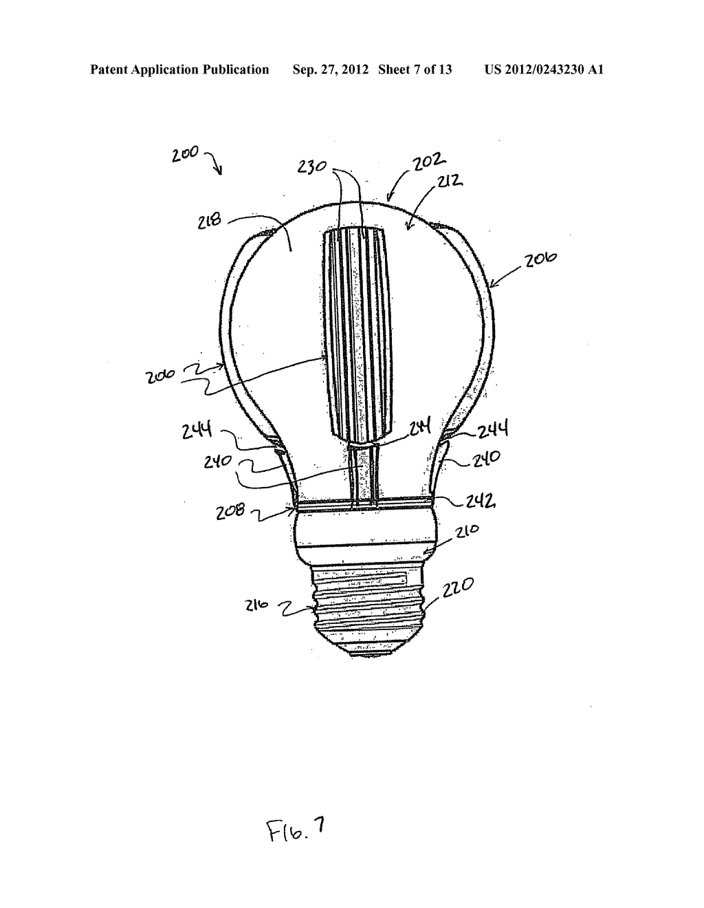 hight resolution of heat transfer assembly for led based light bulb or lamp device diagram schematic and image 08