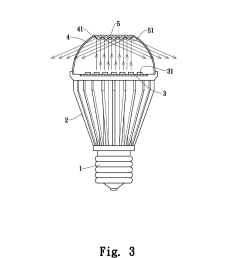 led light emitting diode lamp with light reflection diagram schematic and image 04 [ 1024 x 1320 Pixel ]