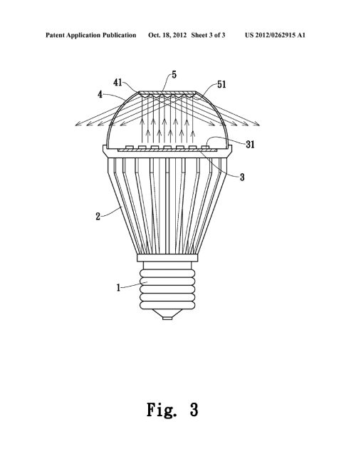 small resolution of led light emitting diode lamp with light reflection diagram schematic and image 04