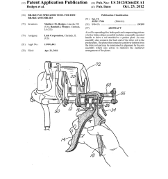 brake pad spreader tool for disc brake assemblies diagram schematic and image 01 [ 1024 x 1320 Pixel ]
