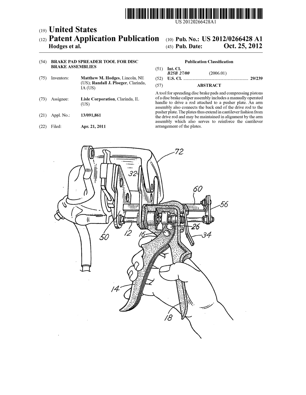 hight resolution of brake pad spreader tool for disc brake assemblies diagram schematic and image 01