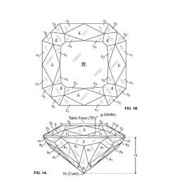 modified princess cut diamond having hearts and arrows pattern and method diagram schematic and image 02 [ 1024 x 1320 Pixel ]