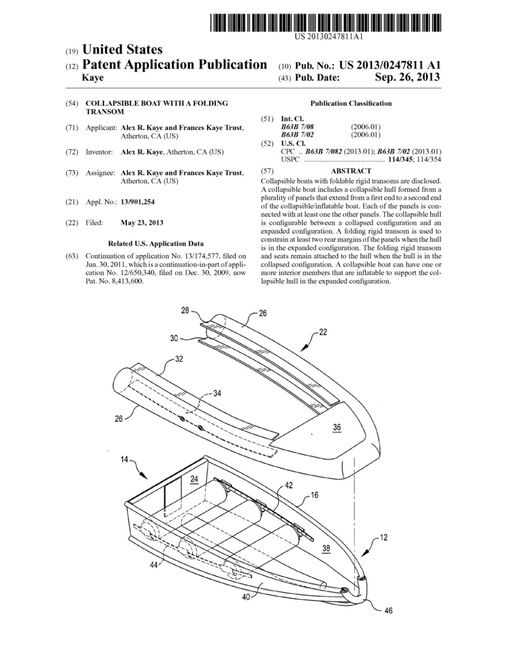 medium resolution of collapsible boat with a folding transom diagram schematic and image 01