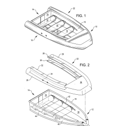 collapsible boat with a folding transom diagram schematic and image 02 [ 1024 x 1320 Pixel ]
