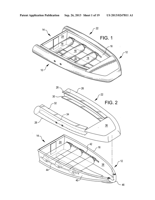 small resolution of collapsible boat with a folding transom diagram schematic and image 02