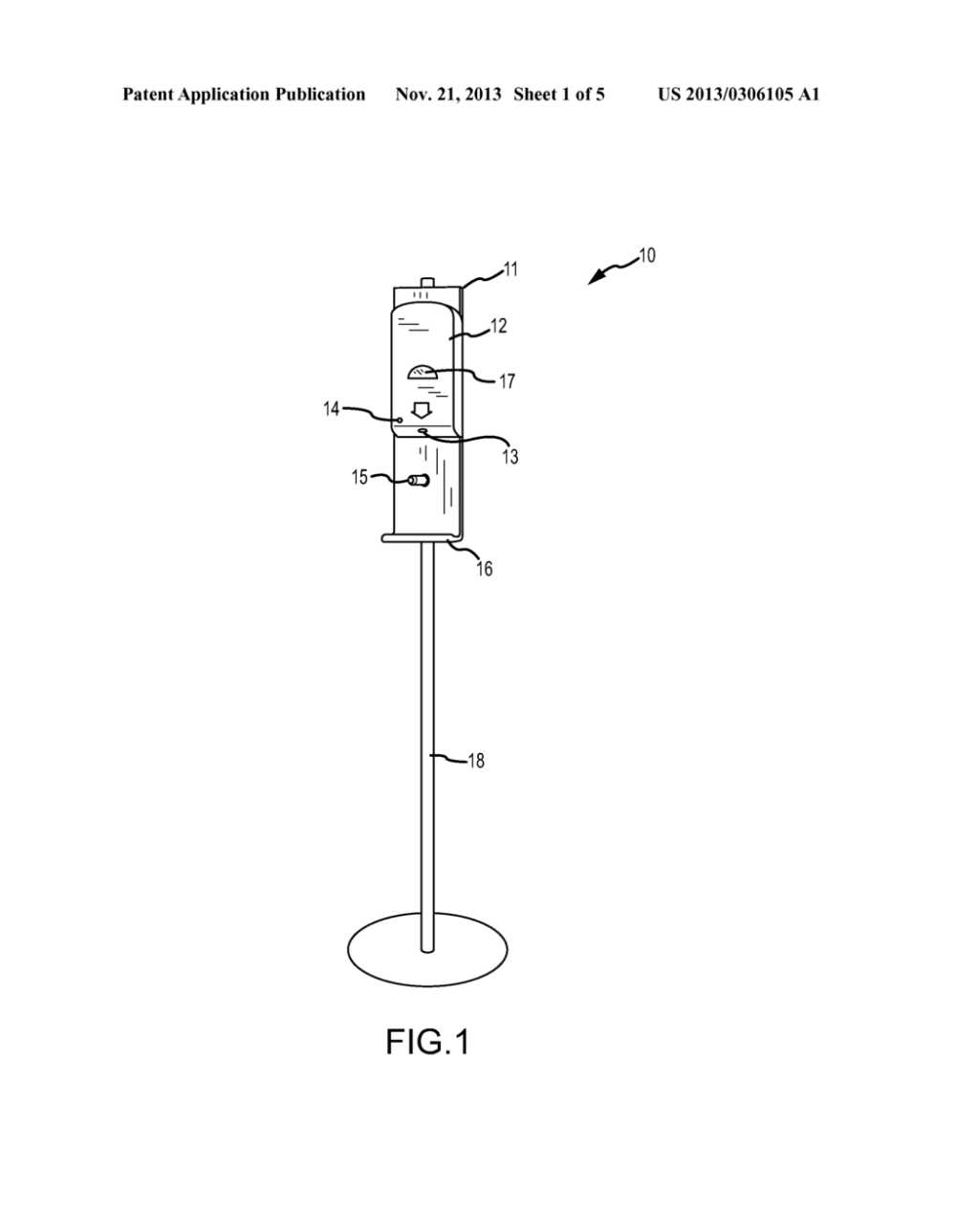 medium resolution of touch free medical instrument sanitation station and method thereof diagram schematic and image 02