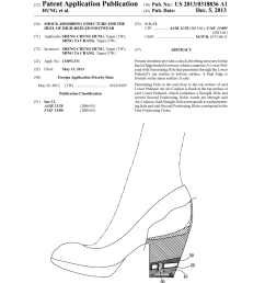 shock absorbing structure for the heel of high heeled footwear diagram schematic and image 01 [ 1024 x 1320 Pixel ]