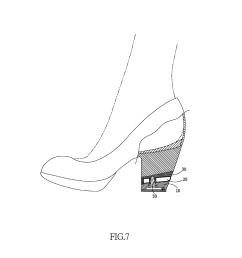 shock absorbing structure for the heel of high heeled footwear diagram schematic and image 08 [ 1024 x 1320 Pixel ]