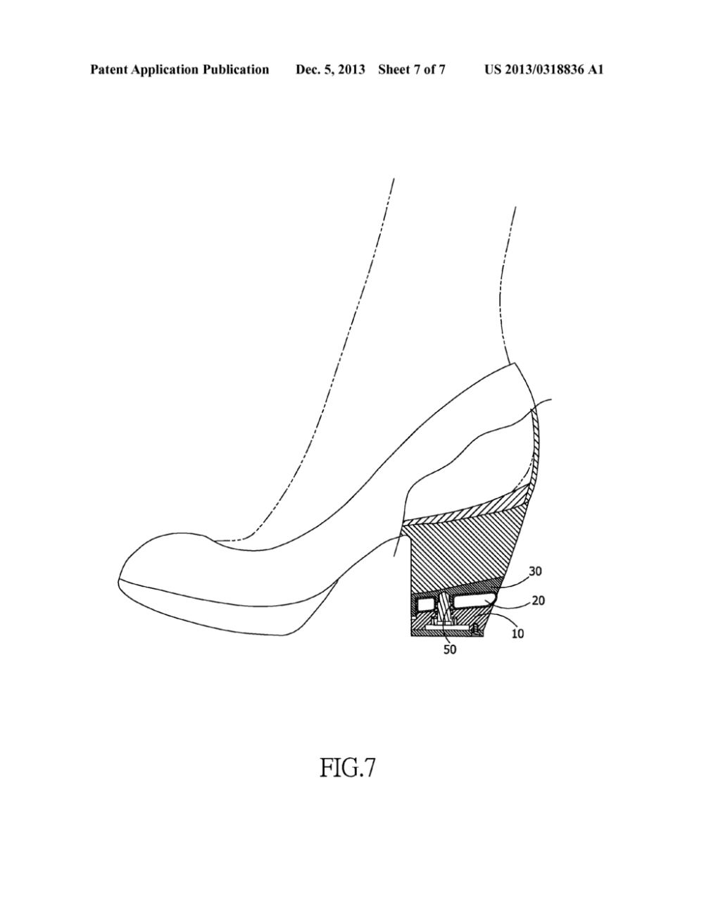 medium resolution of shock absorbing structure for the heel of high heeled footwear diagram schematic and image 08