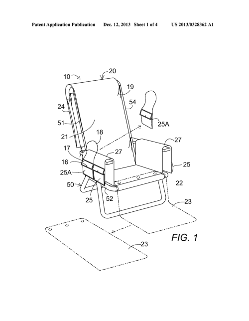 small resolution of beach chair cover with removable pocket purse diagram schematic and image 02