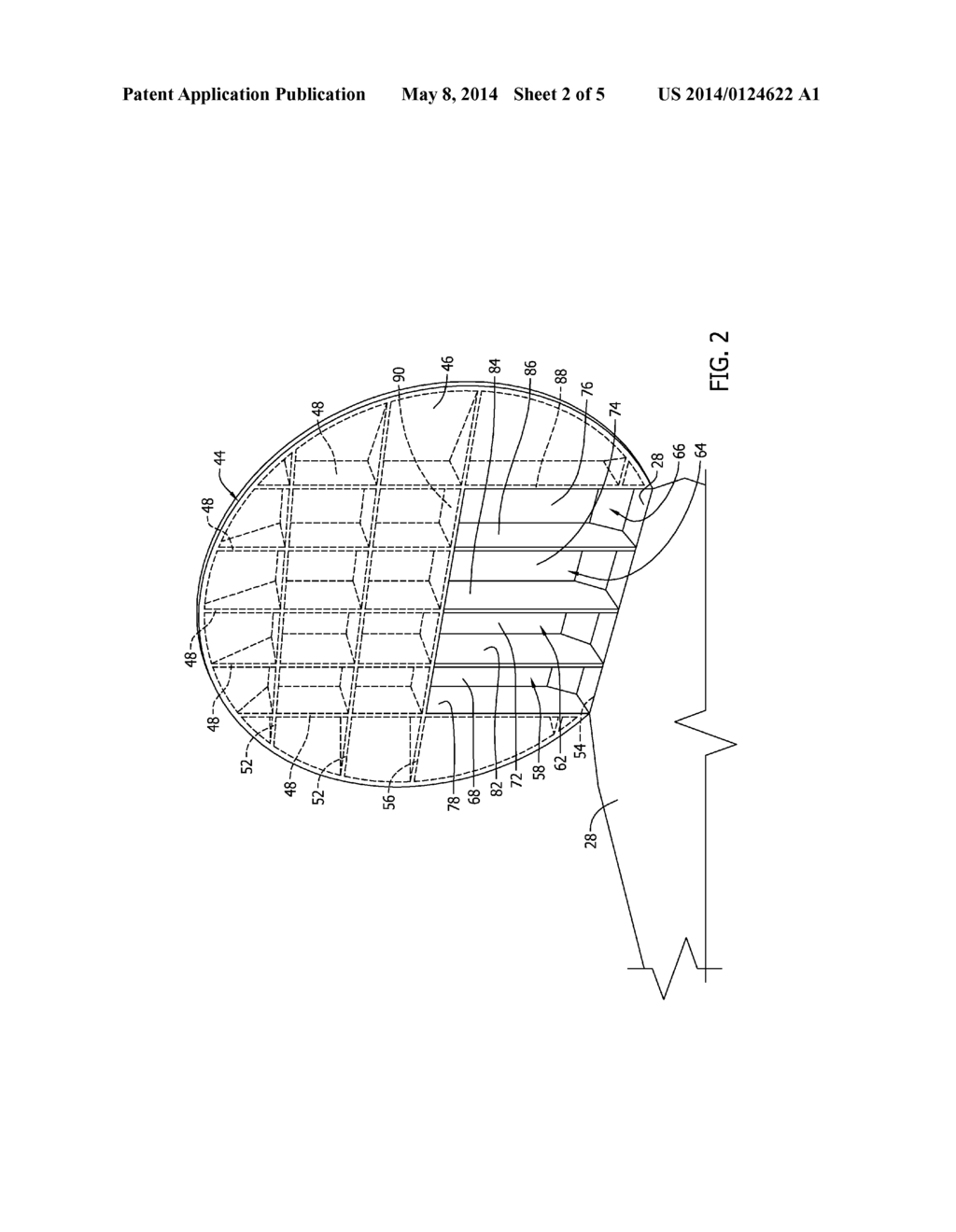hight resolution of  bulkhead wall surface and a galley moved rearwardly into the recessed cavity increasing floor space in front of the galley diagram schematic